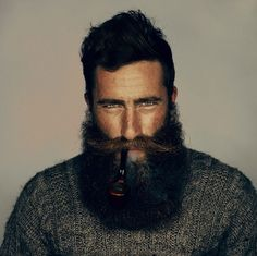 Bearded man w/ Pipe