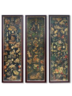 six-individually-framed-victorian-scrap-screen-panels-price-given-is-for-single-panel