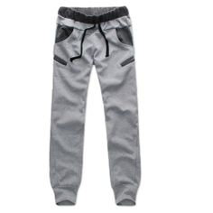Zehui Mens Casual Slim Trousers Cool Jogger Sports Sweatpants Grey Asia XL Large