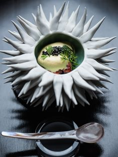 Lobster with sea urchin froth and caviar by chef Ryan McCaskey of Acadia. © Anthony Tahlier - See more at: http://theartofplating.com/editorial/photographer-anthony-tahlier/#sthash.59dt8dtw.dpuf
