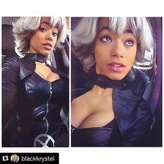 """#Repost @blackkrystel with @repostapp.  Storm at #nycc BOOTH: 780 - Our """"Tempest: Part 3"""" custom Cosplay wig being worn to perfection by Black Krystel yesterday at nycc! - Find her at HERO HAIR's booth #780 today at New York Comic Con - Cosplay: @blackkrystel Wig: @officialherohair - Official @ComicToons Babe  - - #Xmen #marvel #NYCC2015 #nyc #newyork #newyorkcosplay #NerdyDozen #storm #avengers #wolverine #halleberry #therealhalleb @halleberry74 @newyorkcomiccon #comiccon #comics #cosplay…"""
