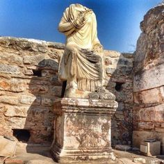 A rare and genuine example of Hellenistic art: Scholastica Statue Ephesus