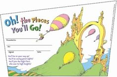 Dr. Seuss Oh The Places You'll Go Recognition Awards 36 Pack $3.59