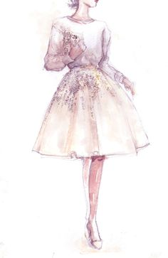 Fashion illustration by Pinodesk on Etsy! http://www.etsy.com/it/listing/178039484/original-fashion-illustration-sparklin
