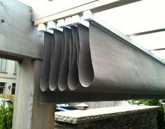 Waterproof Manual Retractable Canopy - Retracted Light Gray Waterproof Manual Canopy System
