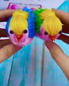 Diy Crafts For Kids Easy, Diy Crafts Hacks, Adult Crafts, Diy Home Crafts, Diy Arts And Crafts, Pom Pom Crafts, Yarn Crafts, Sewing Crafts, Yarn Dolls