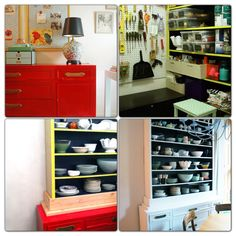 Re-imagined china hutch from the Little Green Notebook