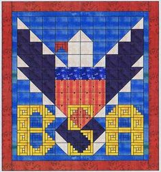 Boy Scouts Quilt Pattern, Alphabet Soup at Creative Quilt Kits Quilt Kits, Quilt Blocks, Quilting Projects, Sewing Projects, Sewing Ideas, Eagle Scout Ceremony, Quilt Of Valor, Cub Scouts, Paper Piecing