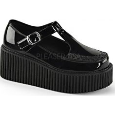 Demonia Mary Jane Creepers ✽ www.beserk.com.au #demonia #creepers #maryjane #shoes #platform #gothic #goth