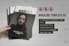 Indesign Magazine Template #5 by iwanraj on @creativemarket