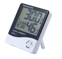 LCD Digital Temperature Humidity Meter Display temperature, humidity and time simultaneously Power Supply: 1.5V*1 (AAA size) Memory of MAX and MIN measuring value 12 hour / 24 hour displaying system selectable Clock & Calendar function (month and date) Desktop placing or Wall Hanging OUR PRODUCT CODE: HA-TIME-2GEN-S