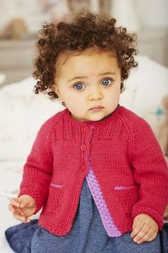 Girls Cardigans in Deramores Baby DK (1019) – Free Digital Pattern Version