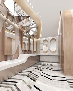 Wc Design, Toilet Design, Interior Design Studio, Interior Design Inspiration, Wc Public, Public Hotel, Toilet Cubicle, Washroom Design, Rest Area