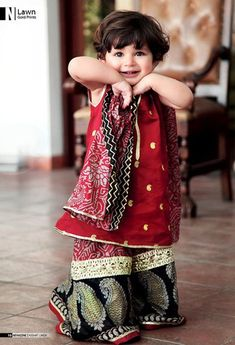 Kids Fancy dresses 2016 in Pakistan-mehroon | Style.Pk
