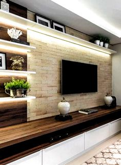 The perfect TV wall ideas that won& sacrifice your looks - 05 -. - The perfect TV wall ideas that won& sacrifice your looks – 05 – closet – # living room - Modern Tv Room, Modern Tv Wall Units, Modern Living, Modern Hall, Modern Closet, Living Room Wall Units, Living Room Tv Unit Designs, Tv Wall Unit Designs, Living Rooms