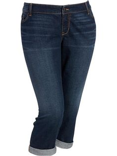 Women's Plus Cuffed Denim Capris | Fashion Now | Pinterest ...