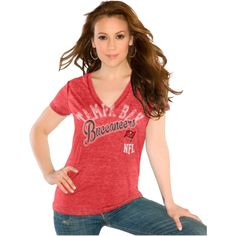 fb9cacc7e924e NFL Team Tampa Bay Buccaneers Women's Fashion Top V Neck T Shirt, Sports  Apparel,
