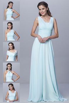 c80439997b Cheap Convertible Style Sexy Chiffon Party Wedding Bridesmaid Dresses  Floor