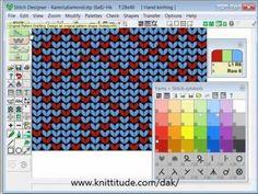 DesignaKnit 8 Stitch Designer Tutorial - Diamonds