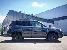 Brand: Subaru Model: Forester 2.5iYear: 2017Color: Dark Grey Metallic Lift kit: LP Aventure Tires: 215/75/15 BFGoodrich All Terrain T/A KO2Wheels: Method Racing Wheels MR502 VTSpec Before the lift kit: After the lift kit: