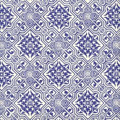 Blue Tile Print Italian Paper ~ Leonardo Communication