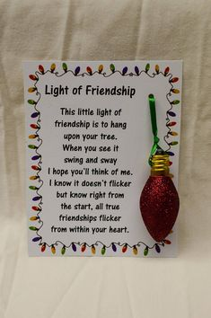 Light of Friendship Glitter Light Bulb Ornament Friend Gift Stocking Stuffer – Diy Gifts For Friends Christmas Crafts For Gifts, Christmas Gifts For Friends, Homemade Christmas Gifts, Diy Christmas Ornaments, Christmas Projects, Craft Gifts, Diy Gifts, Christmas Time, Christmas Countdown