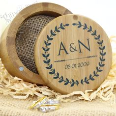 Personalised Bamboo Ring Box