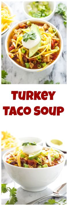 Turkey Taco Soup | Recipe Runner | This hearty slow cooker soup has all the flavors of a taco and is so easy to make!