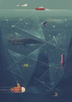 ocean illustration / underwater / Poster Society / Dan Matutina is Twistedfork