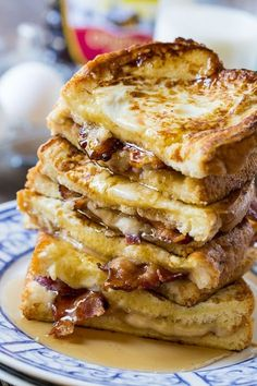 Bacon Stuffed French Toast is the ultimate sweet and savory breakfast. If you are of the belief that everything tastes better with bacon, you will love it! French Toast Sandwich, Best French Toast, French Toast Bake, Stuffed French Toast, Father's Day Breakfast, Savory Breakfast, Breakfast Ideas, Breakfast Casserole, Mexican Breakfast
