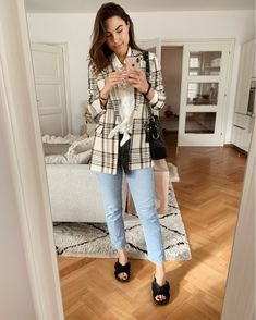 Shop Your Screenshots™ with LIKEtoKNOW.it, a shopping discovery app that allows you to instantly shop your favorite influencer pics across social media and the mobile web. Cold Temperature, Summer Is Coming, Plaid Blazer, Shop My, Peace, My Style, Pants, How To Wear, Outfits