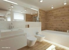 Badezimmer in Weiß, Schwarz und Holz daart badezimmerideen is part of Bathroom - Ensuite Bathrooms, Bathroom Spa, Modern Bathroom, Master Bathroom, Zebra Bathroom, Lowes Bathroom, Bathroom Interior Design, Interior Design Living Room, Vanity Decor
