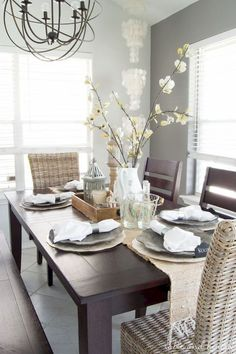 top 9 dining room centerpiece ideas diy home dining room table rh pinterest com