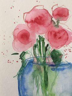 ORIGINAL AQUARELL Aquarellpostkarte Bild Kunst Blumenstrauß Blumen abstrakt Grußkarte von GalerieSilberschatz auf Etsy https://www.etsy.com/de/listing/598064179/original-aquarell-aquarellpostkarte-bild