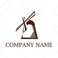 ロゴマーク「努力は裏切らない」[風車/継続/チャレンジ](金融、保険、士業、コンサル、教育)