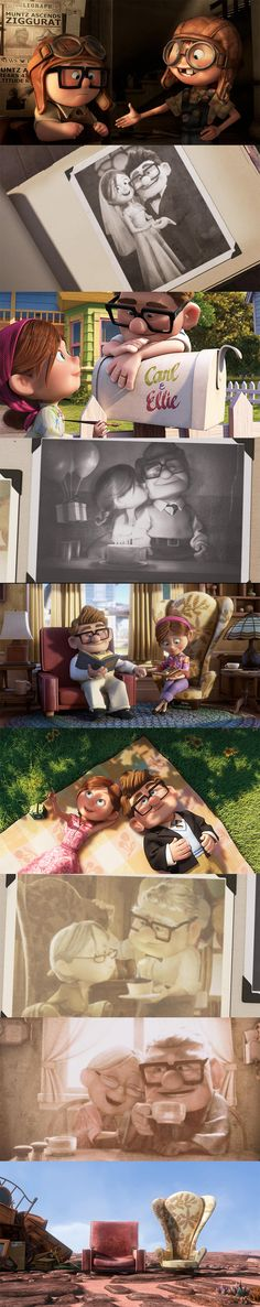Carl + Ellie ❤ the start of Up always makes me tear up