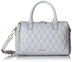 Vera Bradley Quilted Marlo Satchel Bag, Cloud Gray, One Size
