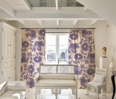 Dressing Up Windows with Colorful, Patterned Curtains