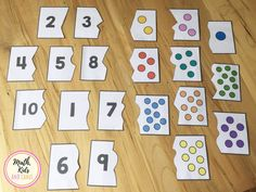 Preschool number puzzles for numbers 1 to 10 (FREEBIE!) - Math, Kids and Chaos - Preschool number puzzles for numbers 1 to 10 (FREEBIE!) – Math, Kids and Chaos La mejor imagen sob - Preschool Activities At Home, Nursery Activities, Free Preschool, Number Activities For Preschoolers, Preschool Lessons, Numbers For Kids, Numbers Preschool, Learning Numbers, Number Puzzles