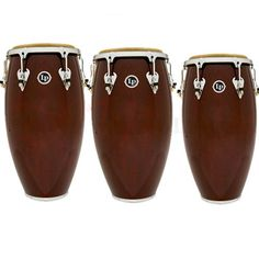 LP Matador Dark Brown Conga Drums - LP Matador Dark Brown Congas with Chrome are ideal for the working musician who needs professional sound and quality at a moderate price level.