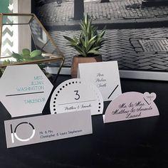Modern Cutout Wedding Place Card Table Number Cutout Modern