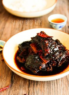 Sticky Glazed Asian Beef Short Ribs