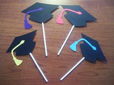 Set of 48 Cupcake Toppers - Graduation Cupcake Toppers - Graduation Cake Toppers - Graduation Centerpiece - Graduation Cap via Etsy