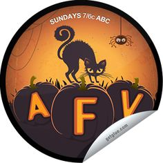 Steffie Doll's AFV: Halloweenies Sticker   GetGlue America's Funniest Home Videos, America Funny, Cat Boarding, Beautiful Cats, The Incredibles, Sticker, Places, Pretty Cats, Stickers