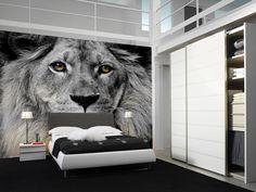 Eazywallz  - Lion Head Wall Mural, $136.62 (http://www.eazywallz.com/lion-head-wall-mural/)