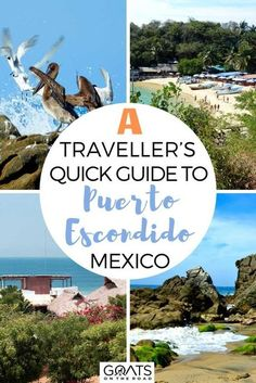 Looking for fun things to do on the Pacific coast of Mexico? Here we list everything you need to know with a traveller's quick guide to Puerto Escondido that we have for you! Including where to stay, what to eat, what to do, and more! | #bucketlist #travelmexico #travelguide Mexico Travel, Mexico Vacation, Pacific Coast, Mexico City, Central America, Great Places, Best Places To Travel, Beautiful Beaches, Travel Guides