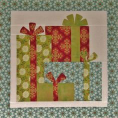 "Under the Tree Mini Quilt Kit, 19"" square, kit includes instructions and fabric for top, binding and backing, $18.00!"
