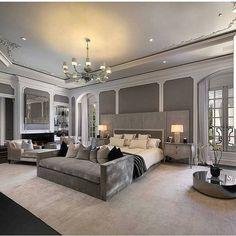 Modern Home Decor Bedroom Luxury Bedroom Sets, Luxury Bedroom Design, Luxurious Bedrooms, Luxury Bedding, Interior Design, Dream Rooms, Dream Bedroom, Home Decor Bedroom, Bedroom Curtains