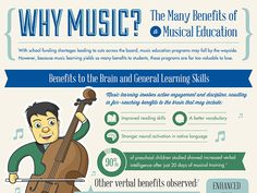 Infographic: The Many Benefits Of A Musical Education #infographic #music