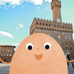 Il nostro ovetto ama l'arte, è per questo che oggi si trova a Firenze! #eggselfie #selfie #italy #art #florence